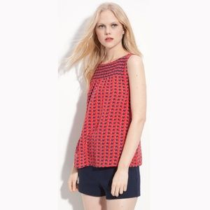 Marc by Marc Jacobs Heart Print Silk Top